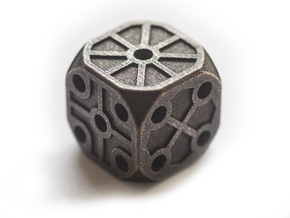 Rustic Die - Large in Polished and Bronzed Black Steel