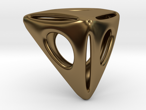 Triangle Pendant in Polished Bronze