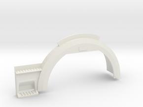 right mud guard  version 2  in White Natural Versatile Plastic