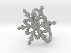 Snowflake Ring 2 d=19mm h21d19 in Aluminum
