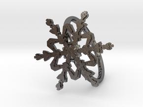 Snowflake Ring 2 d=19mm h21d19 in Polished Nickel Steel