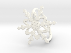 Snowflake Ring 2 d=19mm h21d19 in White Processed Versatile Plastic