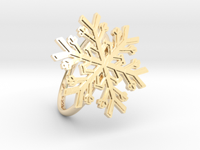 Snowflake Ring 1 d=19mm h21d19 in 14K Yellow Gold