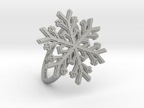 Snowflake Ring 1 d=19mm h21d19 in Aluminum