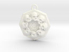 SKUX pendant  in White Processed Versatile Plastic
