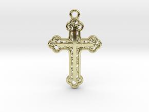 Cross Voronoi in 18k Gold