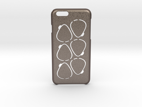 GPick iPhone 6 6s case in Polished Bronzed Silver Steel