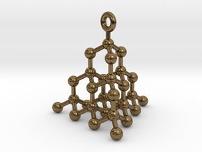 Molecule Pendant in Polished Bronze
