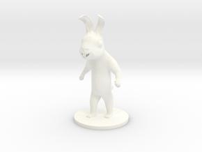 Rabbit in White Processed Versatile Plastic