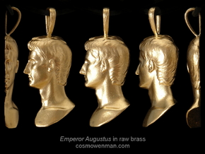 Augustus Prima Porta, pendant in Natural Bronze
