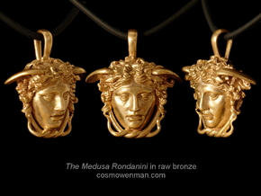 Medusa Rondanini pendant in Natural Bronze