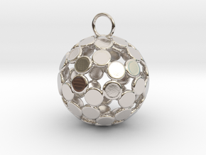 ColorBall Pendant in Rhodium Plated Brass