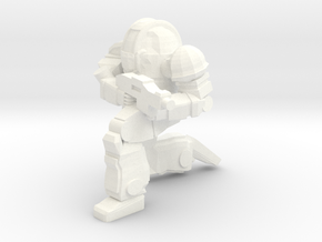 Ogre MKII Pose 3 in White Strong & Flexible Polished
