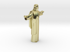 Cristo-redentor HW Medium in 18k Gold Plated Brass