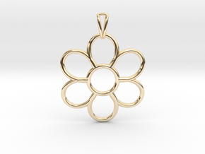 Share Your Smile With Me Sunflower Pendant (Big)  in 14k Gold Plated Brass