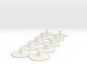 10-pack 15mm Grav/GEV Hover Stands in White Natural Versatile Plastic