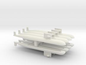 PLA[N] 093 Submarine x 8, 1/2400 in White Natural Versatile Plastic