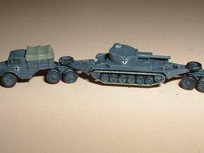 Hvy. Tank-Transporter Porsche Type 142 1/285 6mm in Smooth Fine Detail Plastic