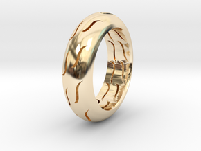 TIRE RING in 14k Gold Plated Brass
