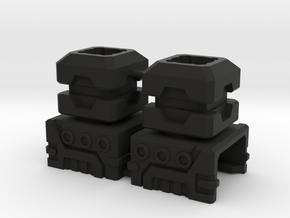 Combiner Port Extenders in Black Natural Versatile Plastic: Small
