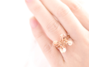 HelixRing mini USsize5 in 14k Rose Gold Plated Brass