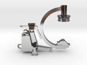 C-ARM - XRAY MACHINE in Fine Detail Polished Silver