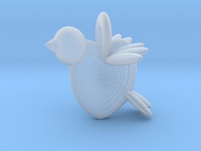 Valentine Bird in Smooth Fine Detail Plastic