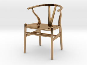 Wishbone style chair 1/12 scale  in Polished Brass