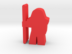 Game Piece, GridNet Heavy Guard App in Red Processed Versatile Plastic