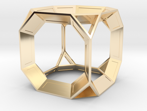 Truncated Cube in 14K Gold