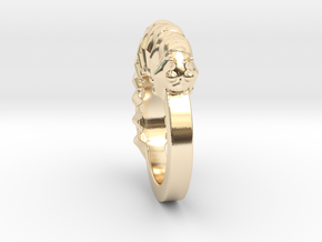 Caterpillar Ring - US Size 9 in 14k Gold Plated Brass