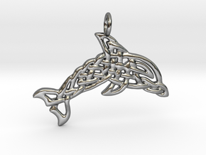 Celtic Sea Pendant in Fine Detail Polished Silver
