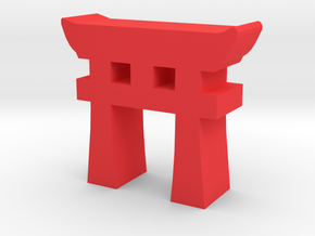 Game Piece, Torii Gate in Red Processed Versatile Plastic