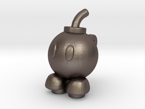Custom Bob-Bomb Inspired Lego in Polished Bronzed Silver Steel