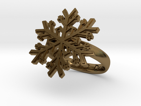 Snowflake Ring 1 d=17.5mm h35d175 in Polished Bronze
