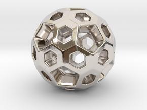 HONEYBOMB Charm. Sweetest Explosion in Platinum