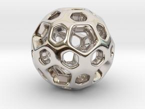 HONEYBOMB SMOOTH Charm in Platinum