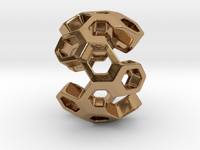 HONEYBOMB GSENSE, Pendant in Polished Brass