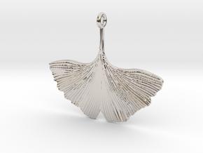 Ginkgo Necklaces in Platinum