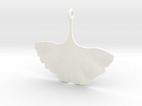 Ginkgo Necklaces in White Processed Versatile Plastic