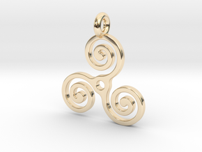 Triple Spiral in 14K Yellow Gold