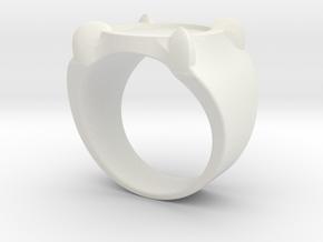 Adrien's Ring (Size 5) (More sizes in description) in White Natural Versatile Plastic: 5 / 49