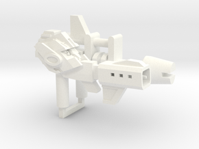 Head Gun + Scout Rifle in White Processed Versatile Plastic