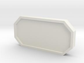 Hub Window Cover in White Natural Versatile Plastic
