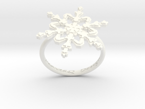 Snowflake Ring 2 d=17.5mm h21d175 in White Processed Versatile Plastic