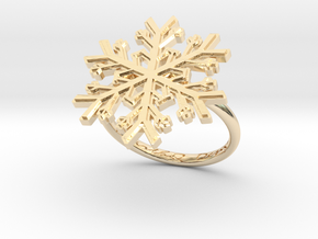 Snowflake Ring 1 d=17.5mm h21d175 in 14k Gold Plated Brass
