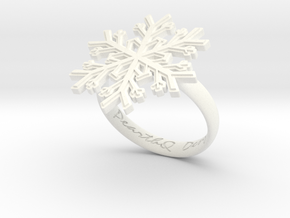 Snowflake Ring 1 d=18.5mm h35d185 in White Processed Versatile Plastic