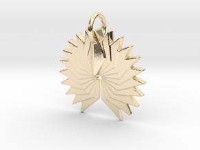 Phoenix in 14k Gold Plated Brass