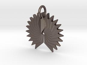 Phoenix in Polished Bronzed Silver Steel