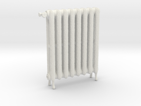 1:6 Decorative Radiator in White Natural Versatile Plastic